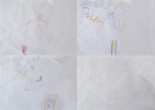 tekeningen les thema drakenland