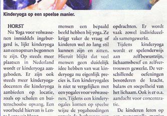 Het grote avontuur dat kinderyoga heet : Zondagnieuws 2012-10-07
